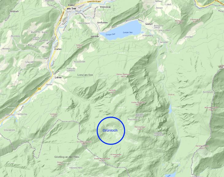 Das Grünloch in den Ybbstaler Alpen, in der Nähe von Lunz am See © geoland