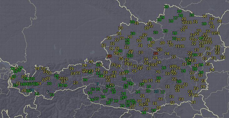 Spätsommerlich warm an der Alpennordseite.