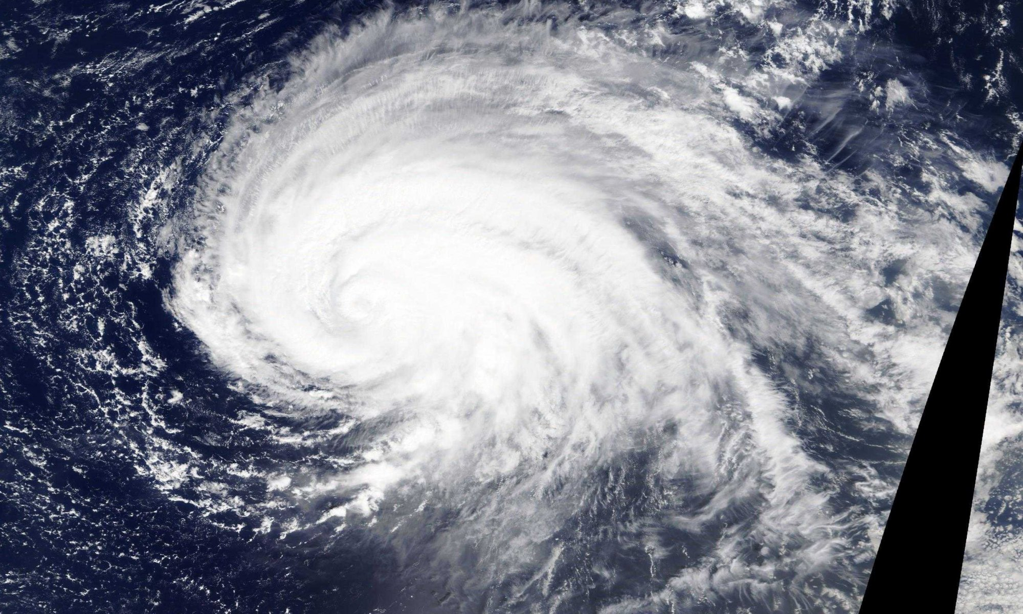 Hurrikan Lorenzo auf dem Atlantik.