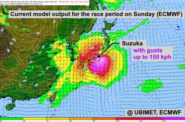 Wieder Taifungefahr für Formel 1 in Japan