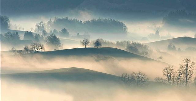 Nebel kommt im Herbst besonders oft vor.