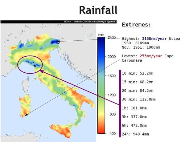Niederschlagsrekorde Italien @ ISPRA