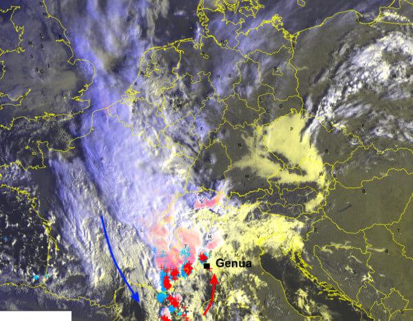 Satellitenbild von Dienstagvormittag @UBIMET, EUMETSAT