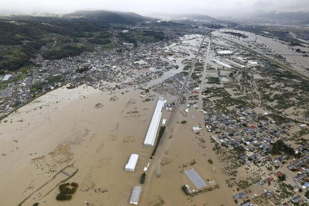 Taifun HAGIBIS hinterlässt schwere Überschwemmungen in Japan
