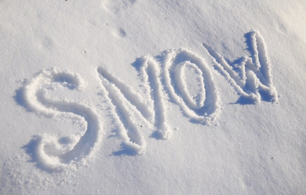 Schnee verändert sich im Laufe der Zeit