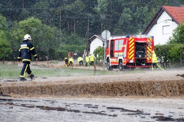 Feuerwehr bei Hochwasser und Starkregen