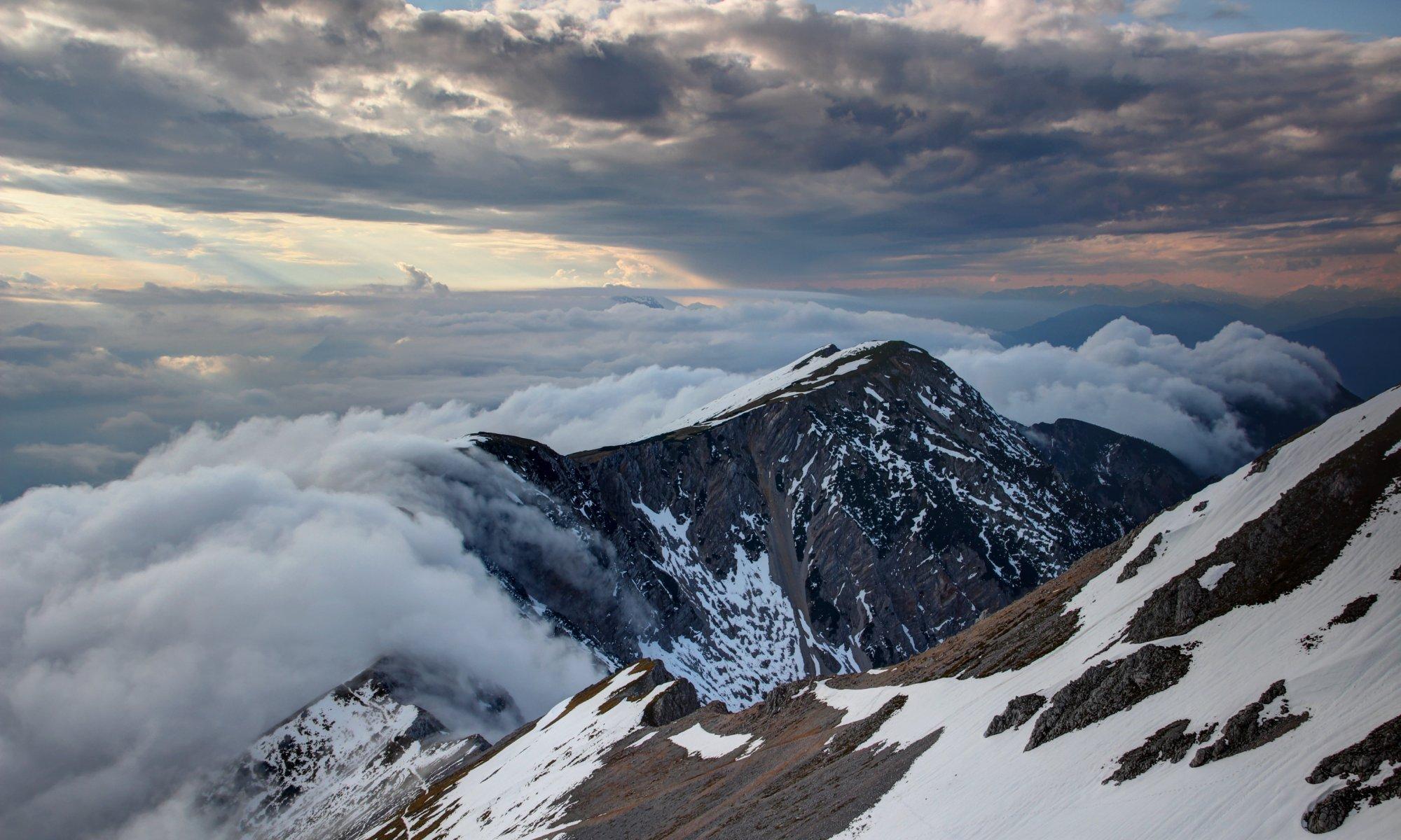 Föhn in den Alpen