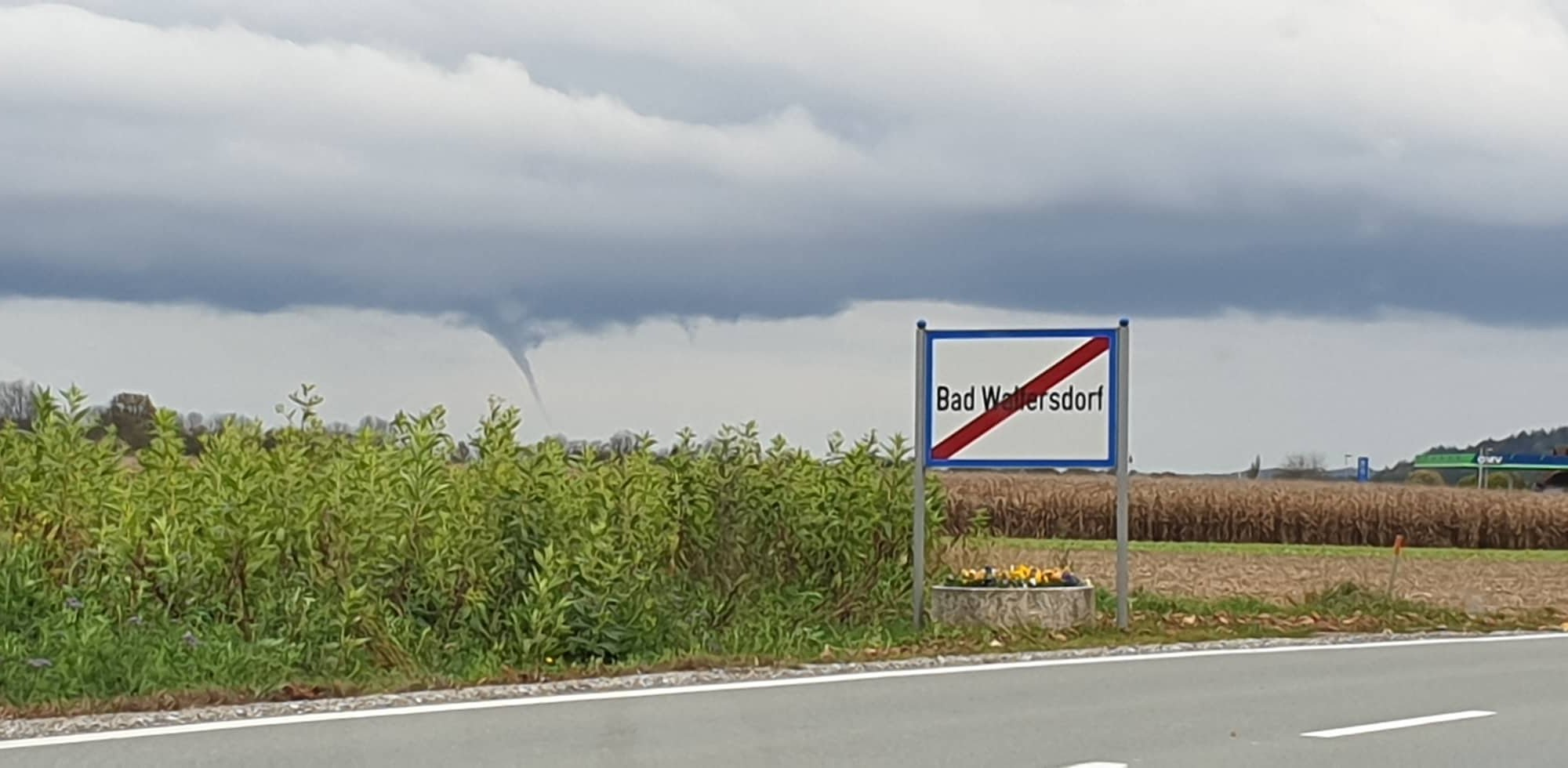 Bild des aufgetretenen Funnels bei Bad Waltersdorf @ Nadine Haas / AWÖ