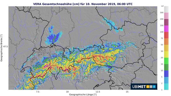 Analyse der Gesamtschneehöhe @ UBIMET