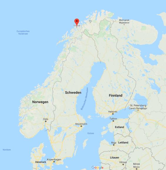 Tromsø im Norden Norwegens.