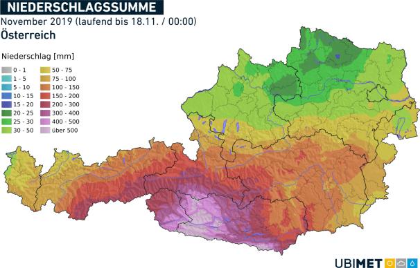 Regen im November 2019 (bis 18.11)