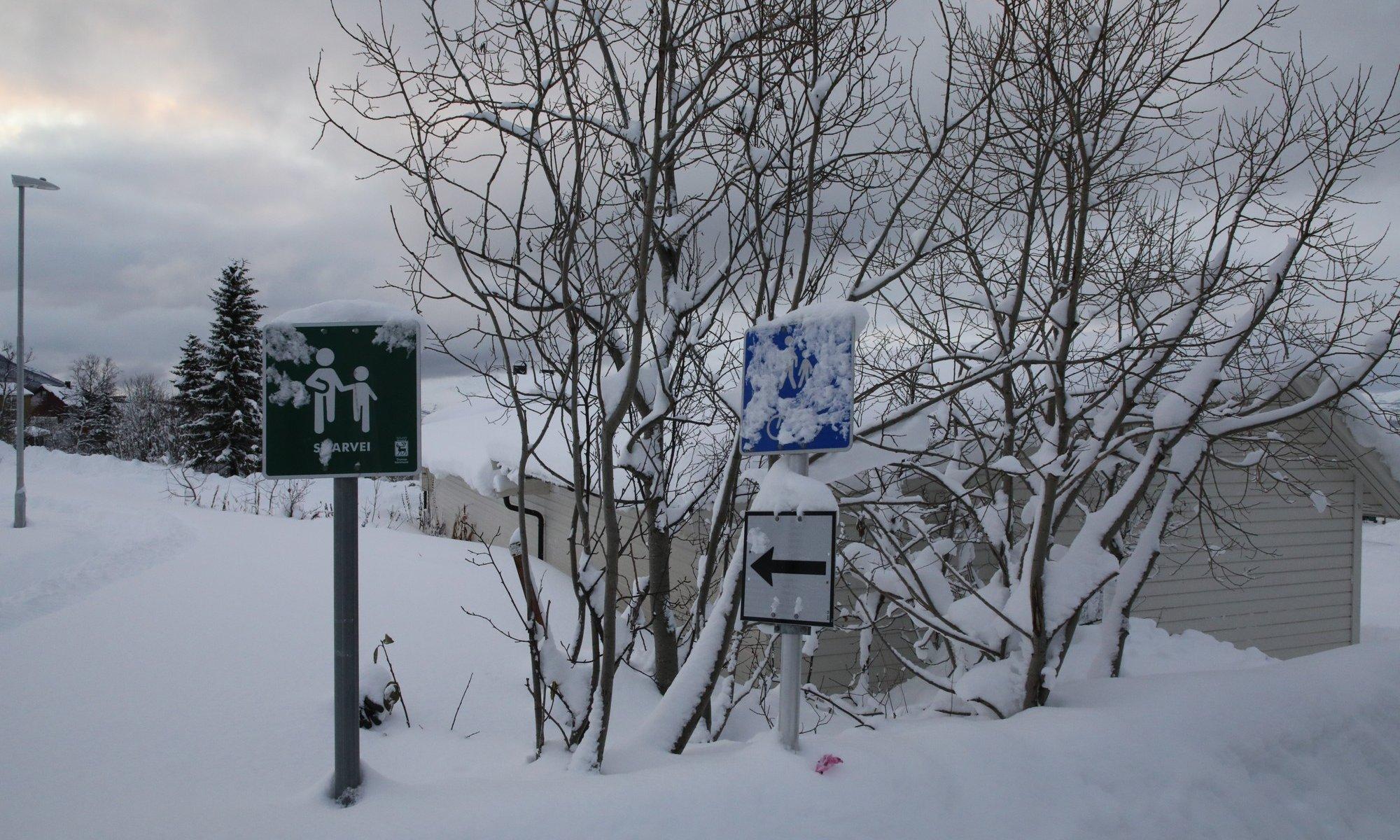 Große Schneemengen in Norwegen.