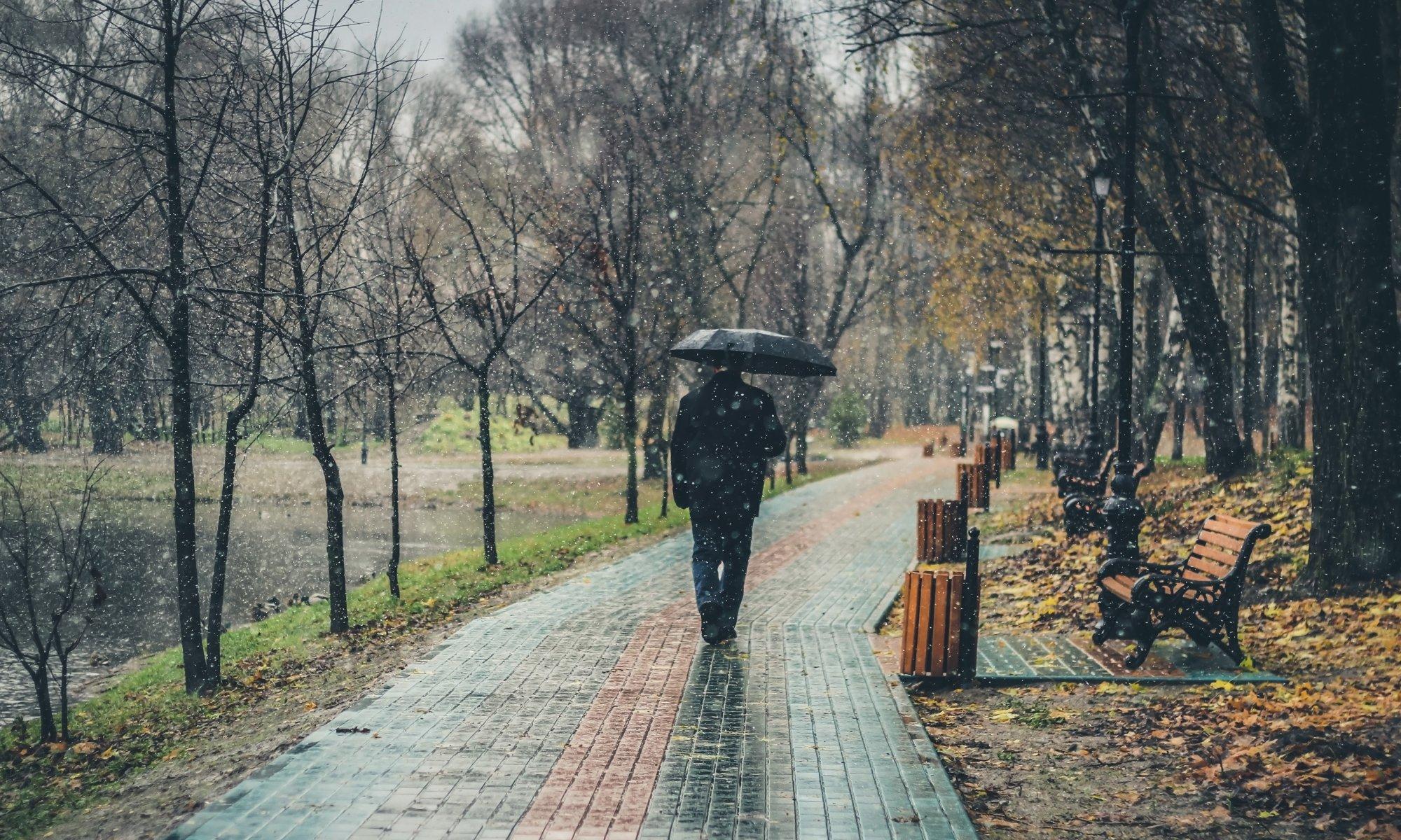 Heftige Regenfälle im Herbst.