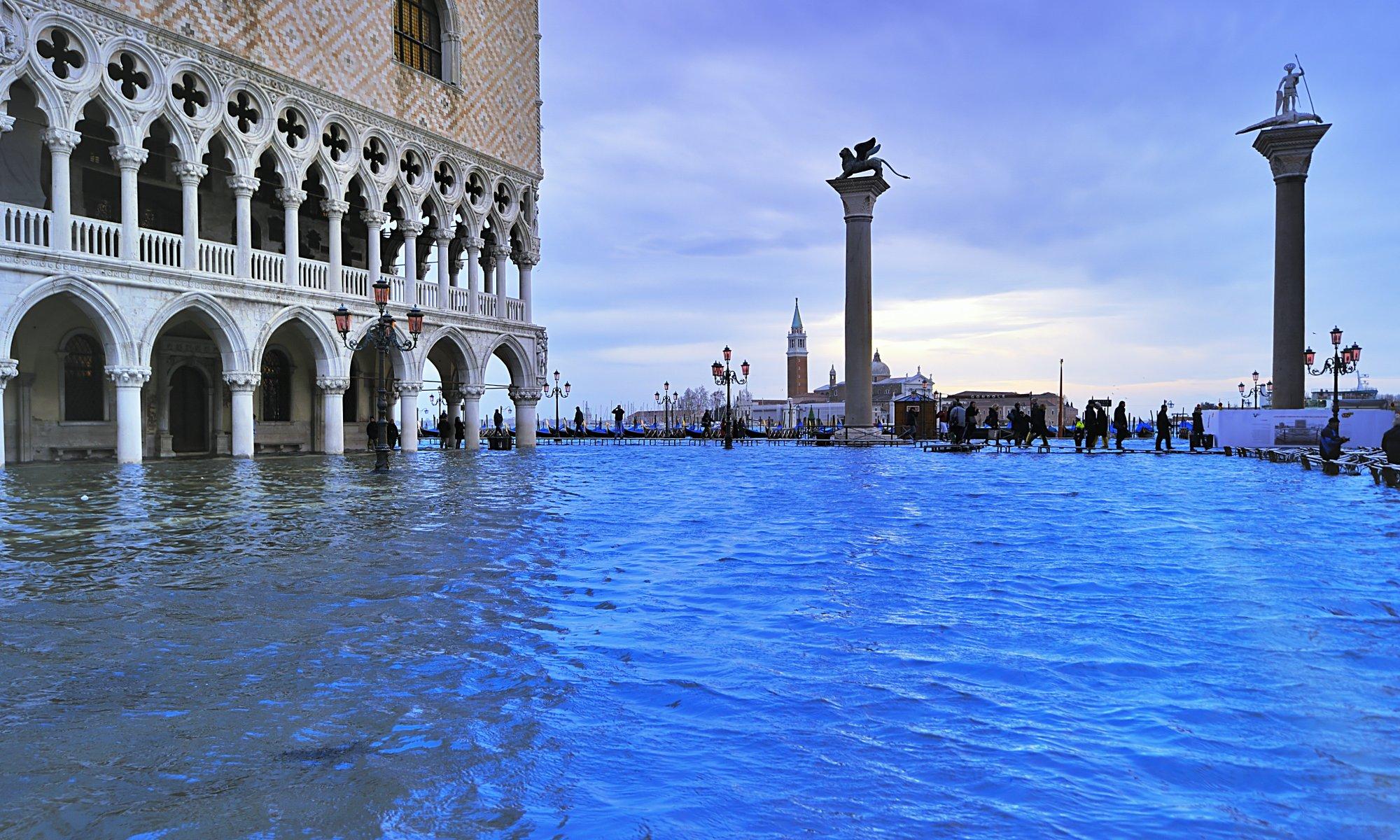 Hochwasser in Venedig.