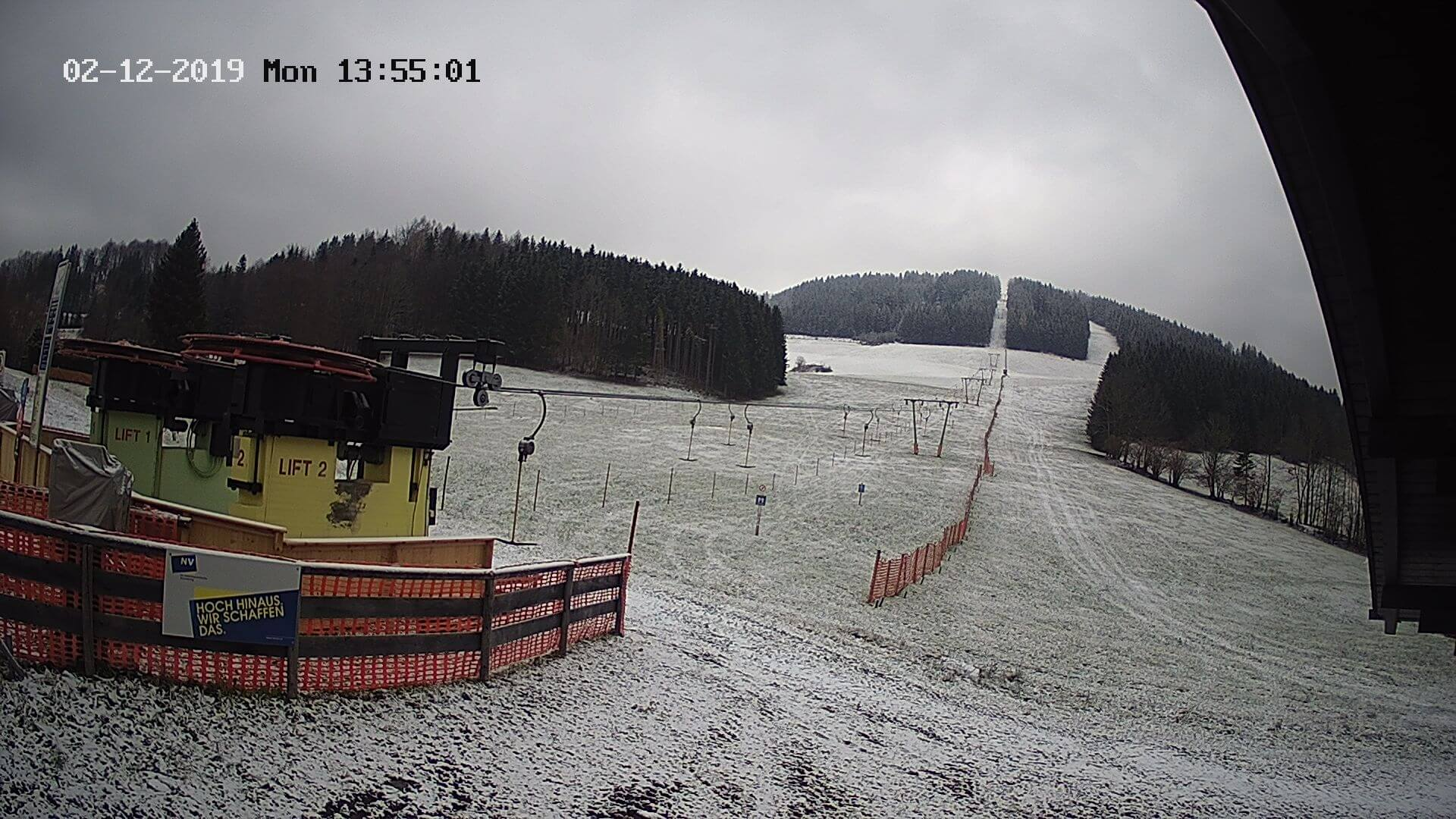 Wenig Neuschnee in Lunz, Quelle: https://www.lunz.at/m1/m1/webcam.jpg