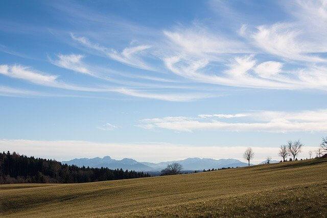 Föhnstimmung am Alpenrand.