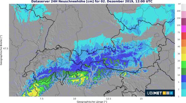Besonders von den Ötztaler bis zu den Gurktaler Alpen gibt es etwas Neuschnee. C UBIMET