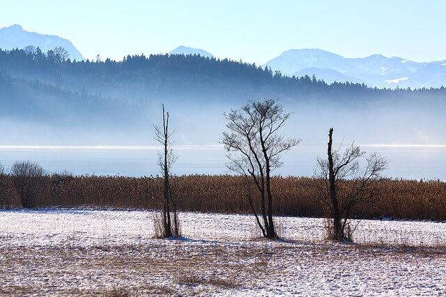Winterwetter im Dezember.