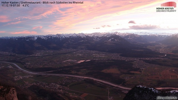 Blick auf Feldkirch, die mildeste Stadt im Dezember