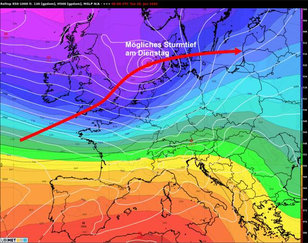 Sturmtief am Dienstag über der Nordsee?