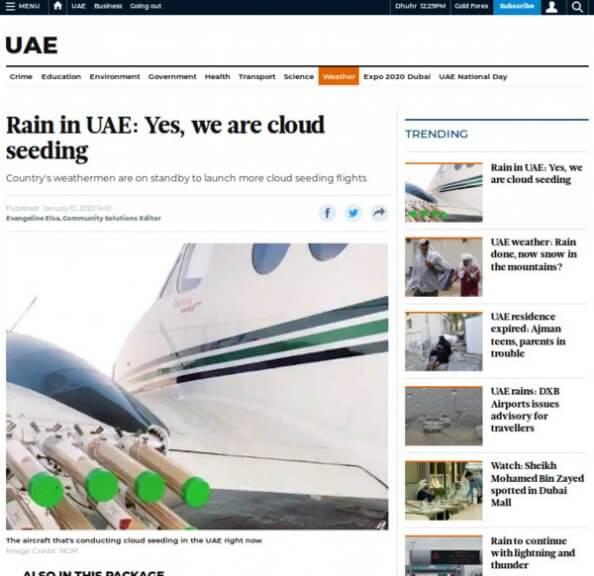 Artikel der Gulf News, siehe Link