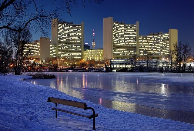 Schnee ist in Wien in diesem Winter eine Rarität.