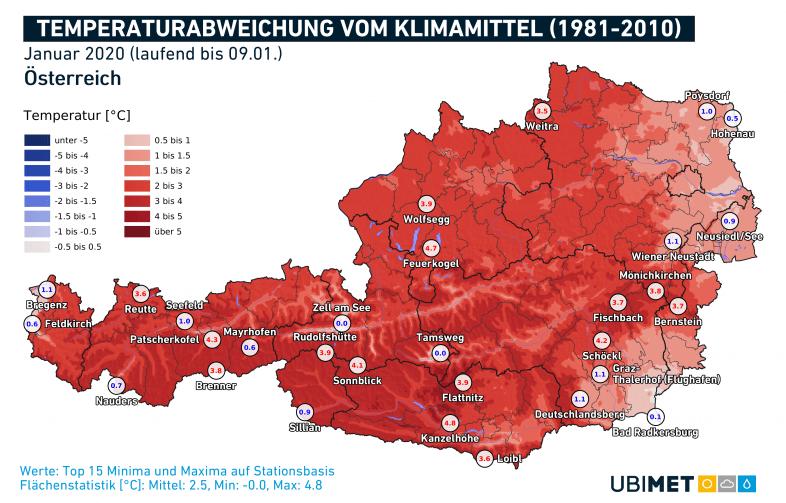Deutlich zu mild bisher: Der Jänner 2020.