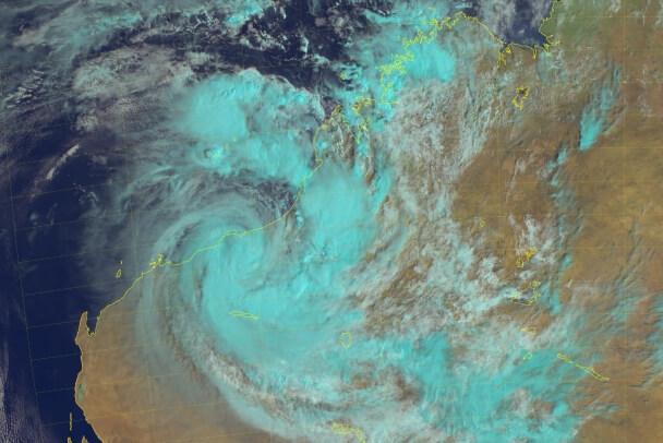 Zyklon Blake über Westaustralien