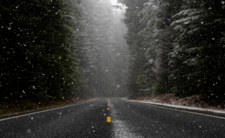 Am Dienstag von Westen her Regen und Schnee