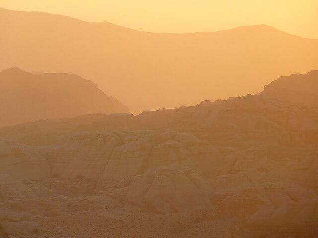 Eingeschränkte Sicht durch Saharastaub.