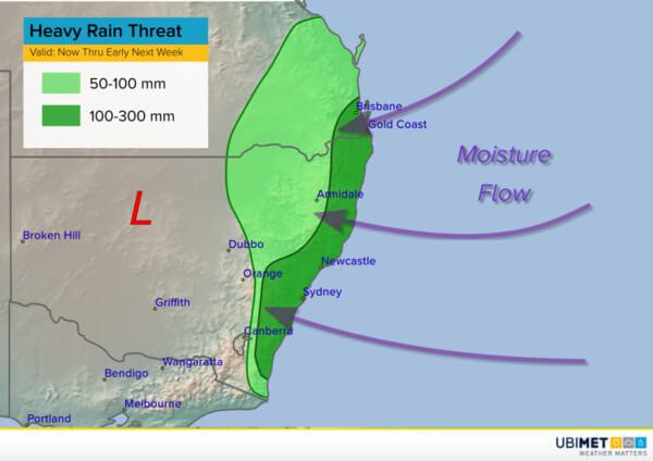 Wetterlage im Südosten von Australien @ UBIMET