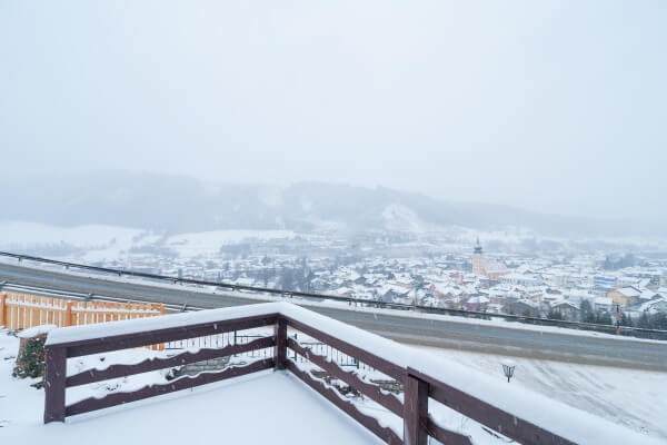 Schneefall in Schladming