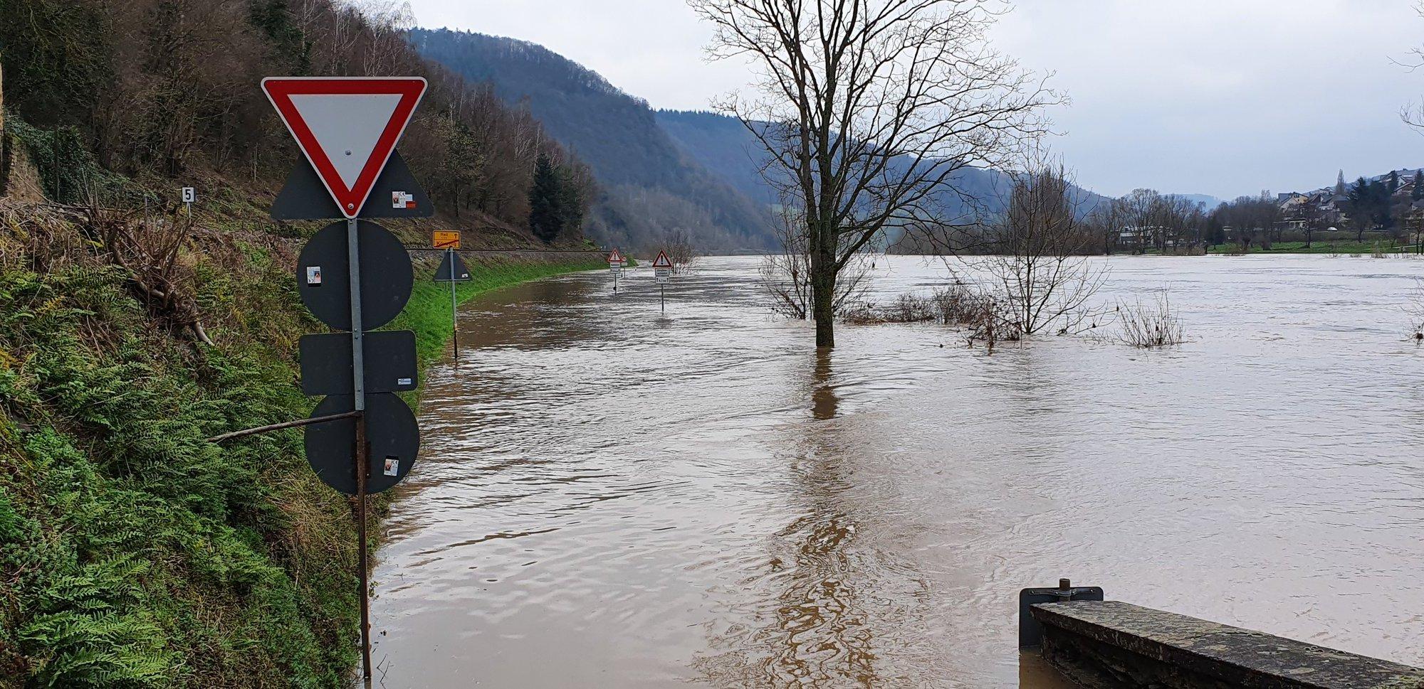 Hochwasser an der Mosel