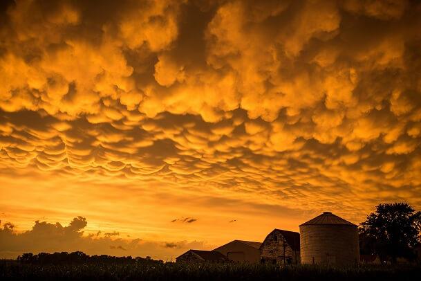 Spektakuläre Mammatus-Wolken in Oklahoma