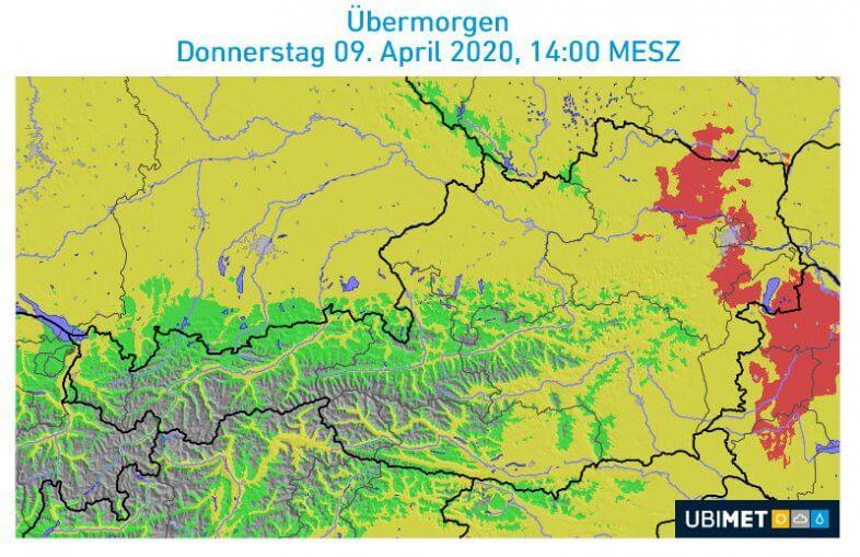Die Waldbrandgefahr am Donnerstag.