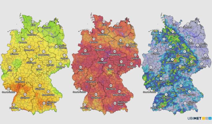 Aktuelle Wetterdaten aus Deutschland