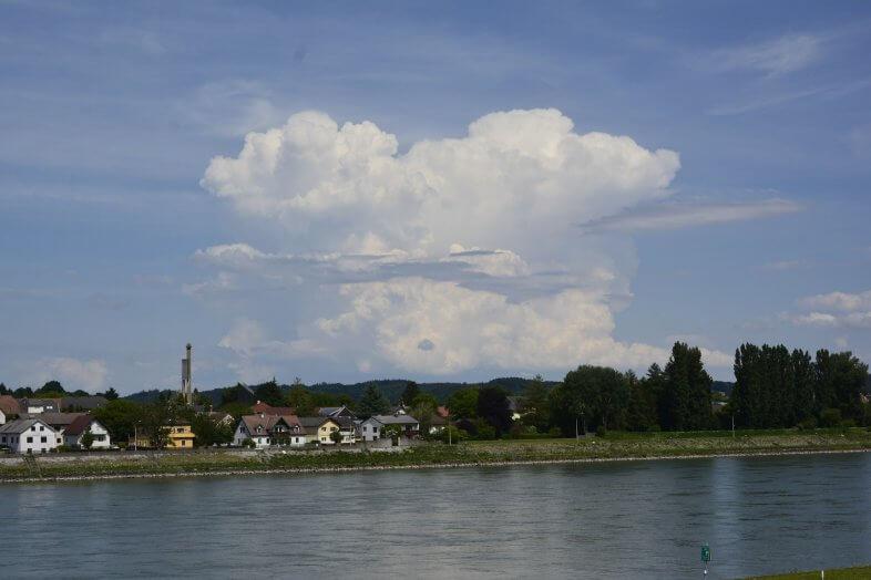 Gewitter bei Zwentendorf an der Donau gesehen von Ybbs an der Donau - Storm Science Austria