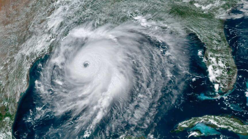 Landfall von Hurrikan LAURA