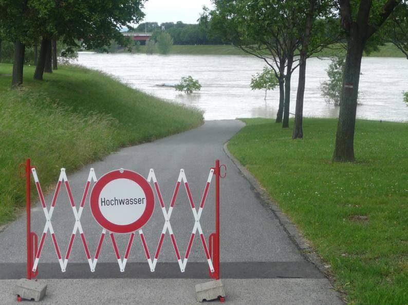 Kleines Hochwasser an der Donau