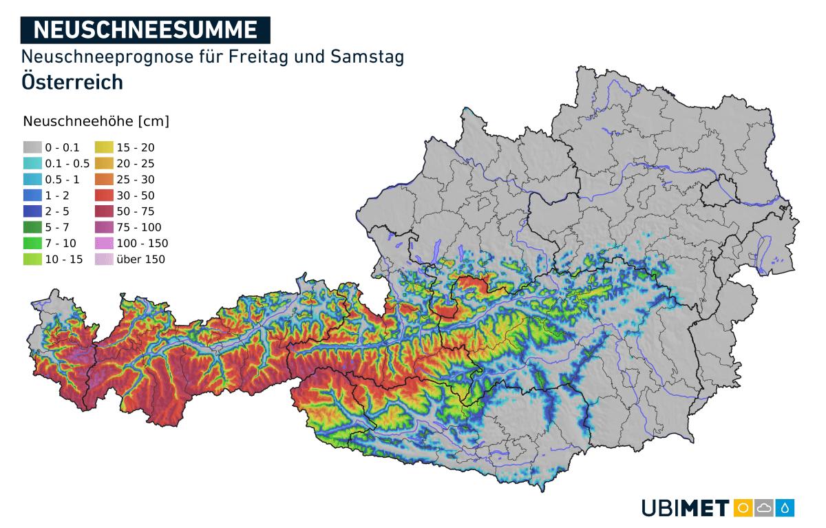 Italientief bringt über 50 cm Schnee in den Hochlagen der Alpen