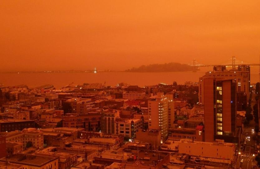 Waldbrände in Kalifornien: Himmel über San Francisco färbt sich orange