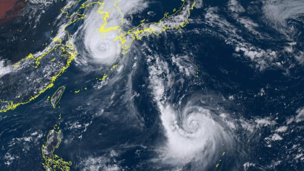 Zwei Taifune bedrohen Japan und Südkorea