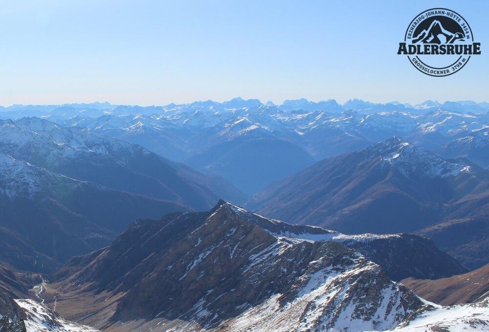 Maximale Fernsicht in den Alpen