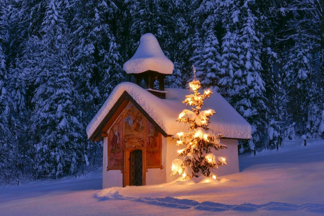 Weihnachten mit Schnee