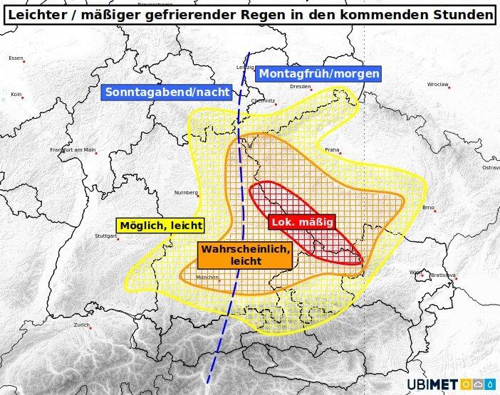 Abschätzung der betroffenen Regionen - UBIMET
