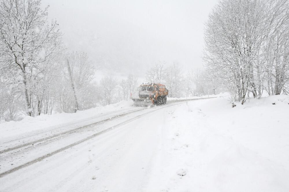 Tief DIMITRIOS bringt in den Nordalpen Schnee