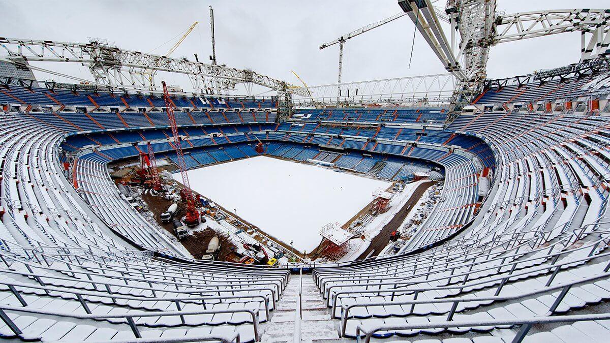 Kräftiger Schneefall in Spanien