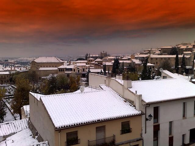 Viel Neuschnee in Spanien