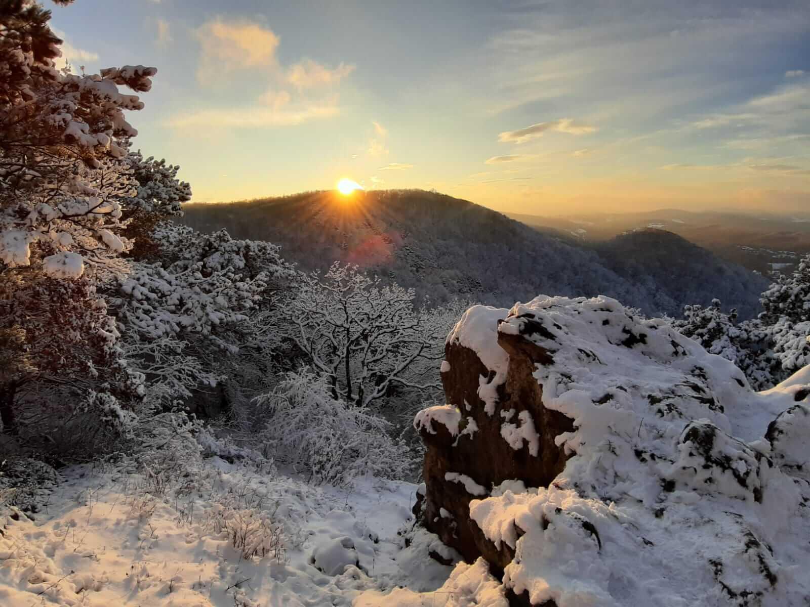 Winterlandschaft über dem Wienerwald. Quelle: Nikolas Zimmermann.