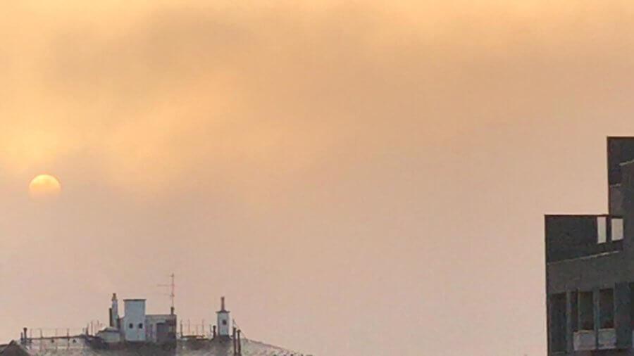Der heutige Sonnenaufgang im Westen Wiens - Michael Beisenherz / UBIMET